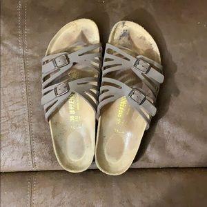 Used size 8 Birkenstock sandals